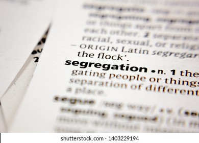 Word or phrase segregation in a dictionary.