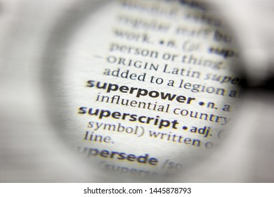 The word or phrase Superpower in a dictionary
