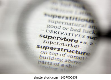 The word or phrase Superstore in a dictionary