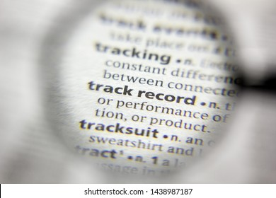 The word or phrase Track record in a dictionary