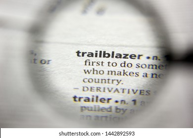 The word or phrase Trailblazer in a dictionary