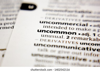 Word or phrase uncommon in a dictionary.