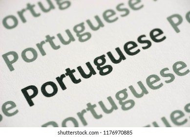Studying portuguese images stock photos vectors shutterstock word portuguese language printed on white paper macro m4hsunfo