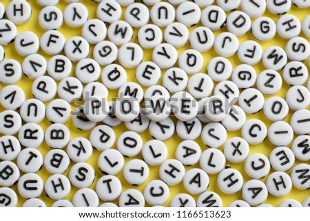 Word Power Made White Rounded Blocks Stock Photo Edit Now