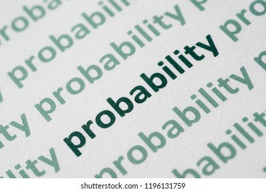 word probability  printed on white paper macro