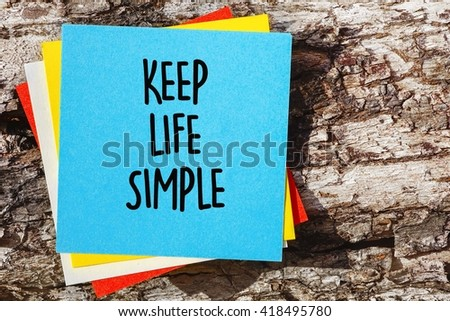 Word Quotes Keep Life Simple On Stock Photo Edit Now 418495780