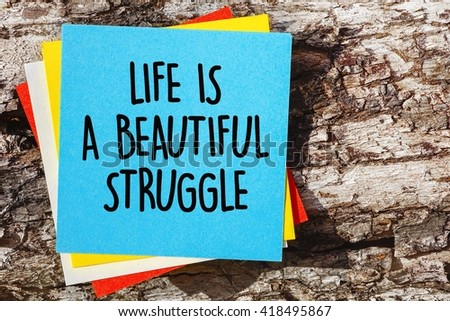 Word Quotes Life Beautiful Struggle On Stock Photo Edit Now