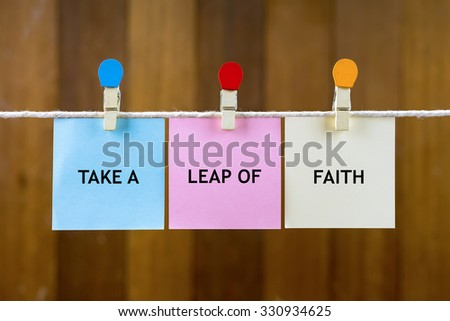 Word Quotes Take Leap Faith On Stock Photo Edit Now 330934625