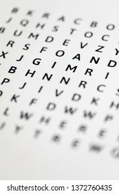 Word search with scrambled letters and hidden words