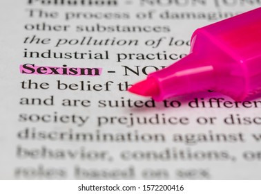 Word sexism definition with highlighter