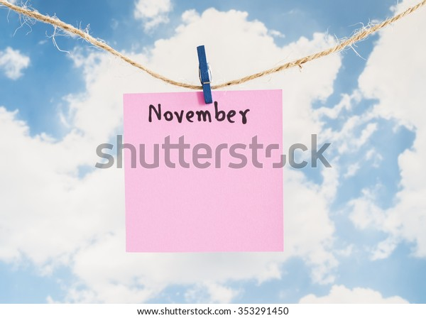 Word Spelling Month Year November By Stock Photo (Edit Now