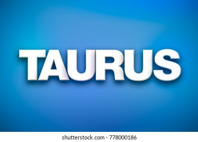 The word Taurus concept written in white type on a colorful background.