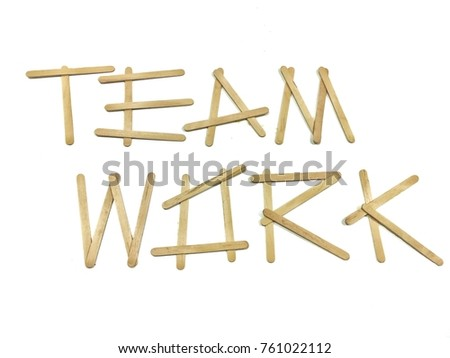 Word Teamwork Made By Ice Cream Stock Photo (Edit Now