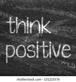 The word  think positive