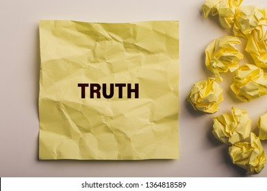 "The word ""Truth"" concept on paper background"