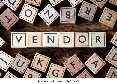 the word of VENDOR on building blocks concept