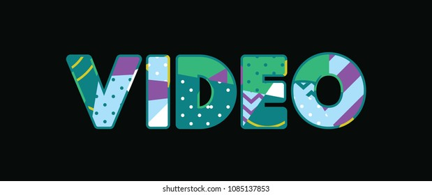 The word VIDEO concept written in colorful abstract typography.