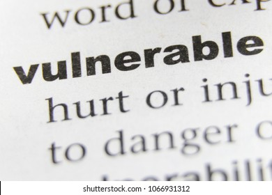 The Word Vulnerable Close Up