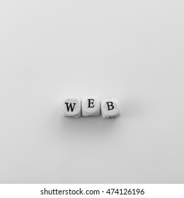 Word Web spelled by dice