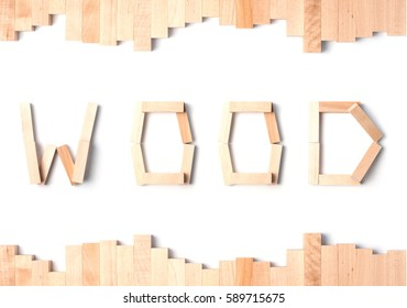 "The word ""Wood"" with wooden frame"