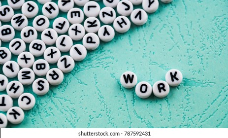 Word work made with round block.