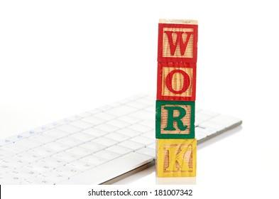 word work on keyboard