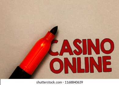 Word writing text Casino Online.