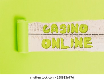 Word writing text Casino Online. Business concept for Computer Poker Game Gamble Royal Bet Lotto High Stakes.