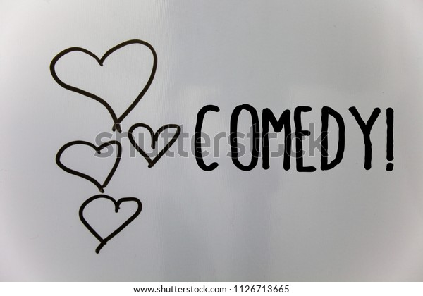 Word Writing Text Comedy Call Business Stock Photo Edit Now