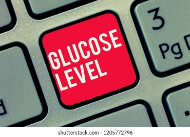 Word writing text Glucose Level. Business concept for Amount of glucose in the blood Reactive hyperglycemia
