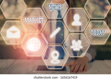Word writing text Market News. Business concept for Commercial Notice Trade Report Market Update Corporate Insight.