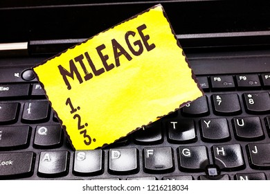 Word writing text Mileage. Business concept for Number of miles travelled or covered Display panel Car instrument