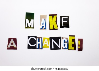 A word writing text showing concept of Make A Choice question made of different magazine newspaper letter for Business case on the white background with space