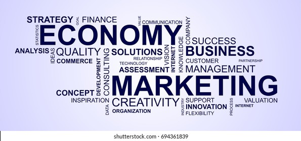 wordcloud for business and economy