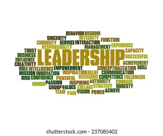 Wordcloud of Leadership and its related words