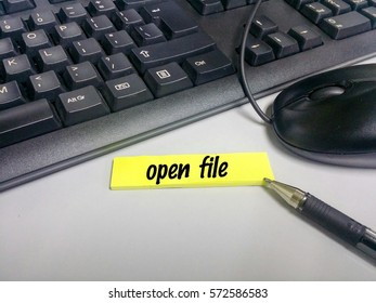 Wordings on sticky notes on keyboard and mouse background