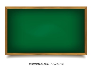 Words back to school written on a green chalkboard with chalk isolated on white background. Raster version