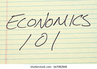 "The words ""Economics 101"" on a yellow legal pad"