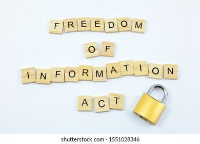The words 'Freedom of Information Act' with a locked padlock