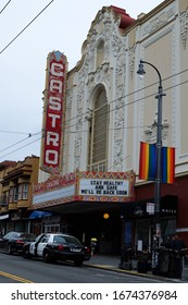 Words of hope on the Castro Theater sign during the Coronavirus pandemic. San Francisco, CA, 03/16/2020.