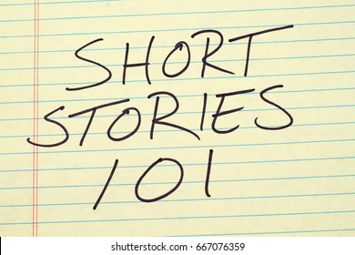 "The words ""Short Stories 101"" on a yellow legal pad"