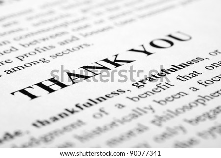 Words Thank You Shot Artistic Selective Stock Photo (Edit