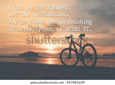 Words Wisdom Motivation Quote About Journey Stock Photo Edit Now