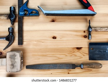 Work with a bunch of tools? Me too. Try these. Old, but still somehow kind of do the job. Like me. DIY background with design space. Bit of paint splatter too. Makes the tools look good.
