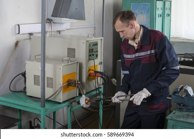 Work carried out in the thermal tempering metal workshops