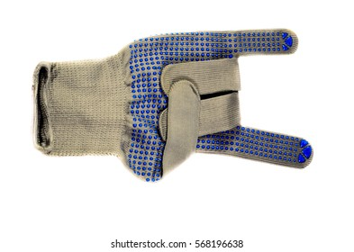Work cotton glove isolated on a white background