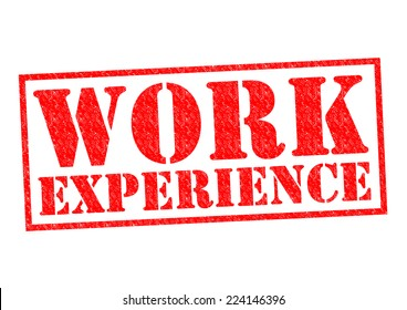 WORK EXPERIENCE red Rubber Stamp over a white background.