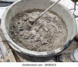 work of a fettler, picture 3 mixing mortar