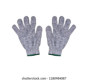 work gloves isolated on white background with clipping path.