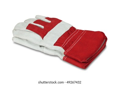 Work gloves isolated on the white background, clipping path included.